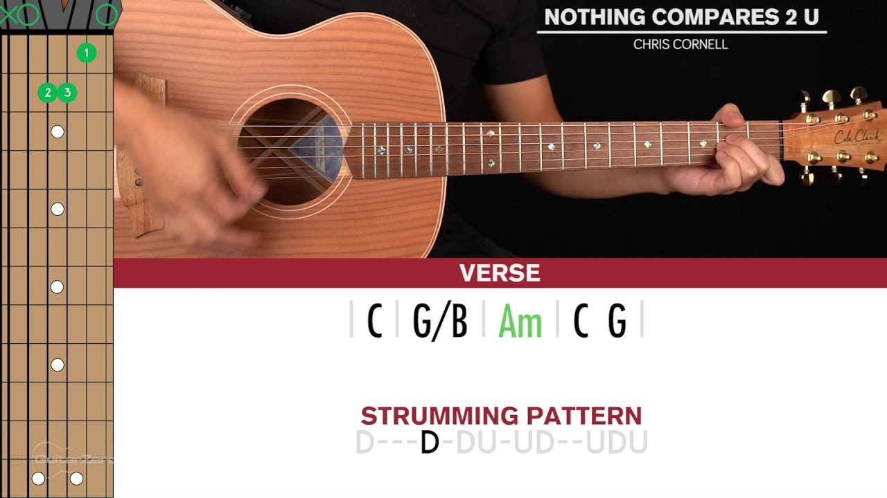 Nothing Compares 2 U Guitar Cover Chris Cornell Tabs Chords Youtube