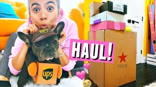 (SURPRISE) PUPPY DELIVERS PACKAGES! + Mini Unboxing🐶📦