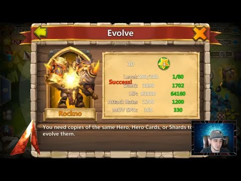Evolving New Hero & Rockno Gameplay! Castle Clash