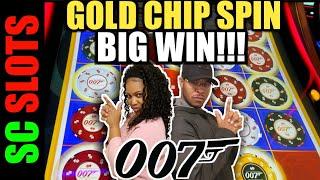 Yeah!!! Multiple Gold Chip Bonus!!! 007 Thunderball Slot Machine Jackpot Big Win