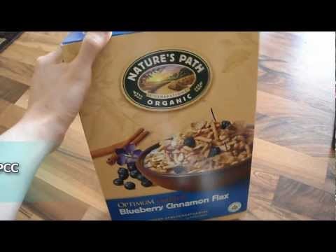 Review Nature's natures path blueberry blue berry cinnamon flax cereal organic omega protein