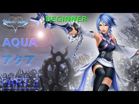 Kingdom Hearts: Birth By Sleep (Final Mix) | Aqua | Part 3 | BEGINNER MODE | PPSSPP |