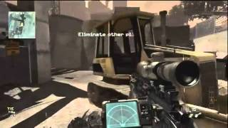 Call Of Duty - Modern Warfare 3 (Online Gameplay - MSR Sniper Rifle Commentary)