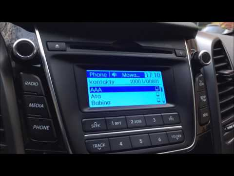 Hyundai i30 II gen. Voice command radio test Polish/English