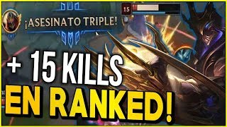 😱 ¡ESTE ES MI ZED 1 CONTRA 9 EN RANKED! | SKIN ZED GALAXY SLAYER | League of legends
