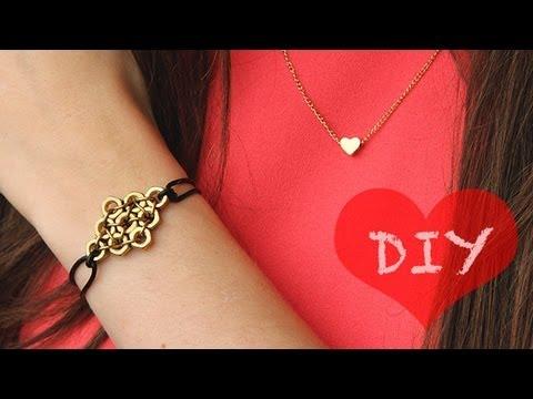 diy statement armband mit muttern zum selber machen geschenkidee youtube. Black Bedroom Furniture Sets. Home Design Ideas