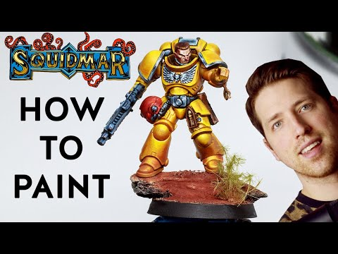 Painting IMPERIAL FISTS like a boss ✊- paint Spacemarine Primaris Intercessor for Warhammer 40k