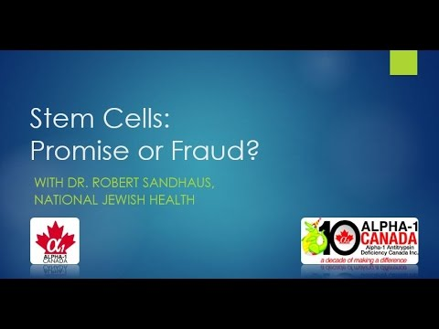 Stem Cells Promise or Fraud with Dr Robert Sandhaus