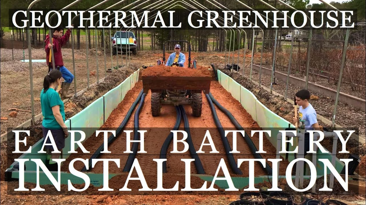 Diy Geothermal Greenhouse Part 4 Earth Battery Installation