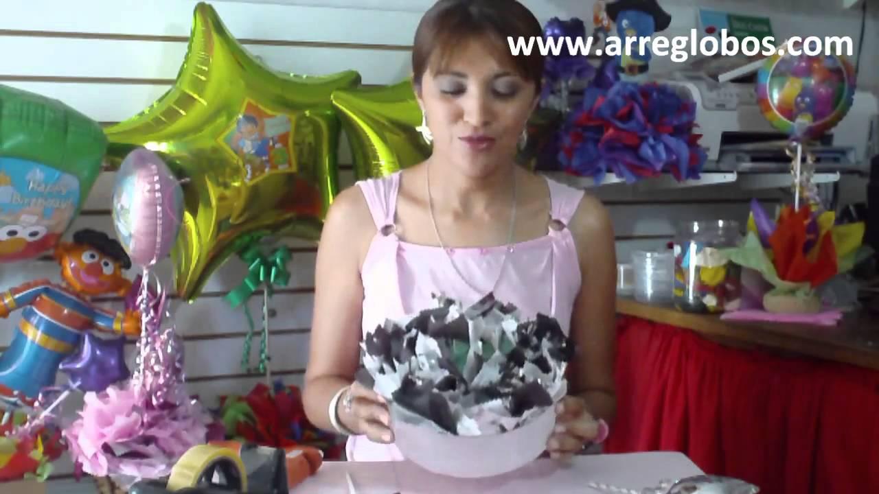 Decoracion Para Grado Hombre ~ Centro de Mesa para Graduacion www arreglobos com  YouTube