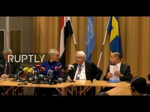 LIVE: Swedish FM gives press conference on Yemen peace talks in Stockholm