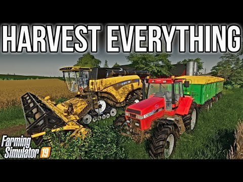 Multi-Crop Harvest & Money-Making Stream! | New Woodshire | Farming Simulator 19