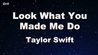 Download lagu Look What You Made Me Do - Taylor Swift Karaoke 【No Guide Melody】 Instrumental