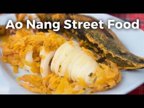Crispy Squid in Ao Nang, Krabi (Thai Beach Food)