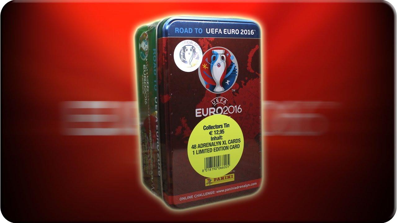 road to uefa euro 2016 sammeldose tin adrenalyn xl youtube. Black Bedroom Furniture Sets. Home Design Ideas