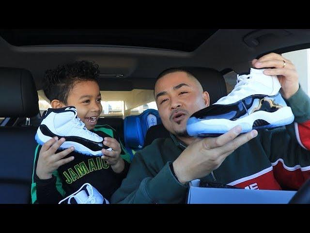 UNBOXING Air Jordan 11 XI CONCORD + WEINERSNITCHEL MUKBANG with NEPHEW   PK Vlog 39