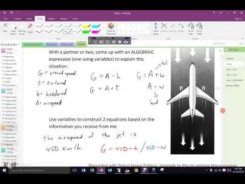 Nov 22 Block C Algebraic Modelling