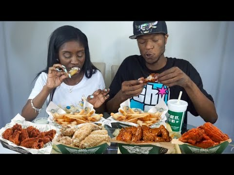 WINGSTOP CHICKEN WING MUKBANG (Lemon Pepper, Hot, & Honey BBQ)
