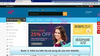 Hướng dẫn - Web30s | Hướng Dẫn Sửa Và Xóa Sản Phẩm | P.A Việt Nam