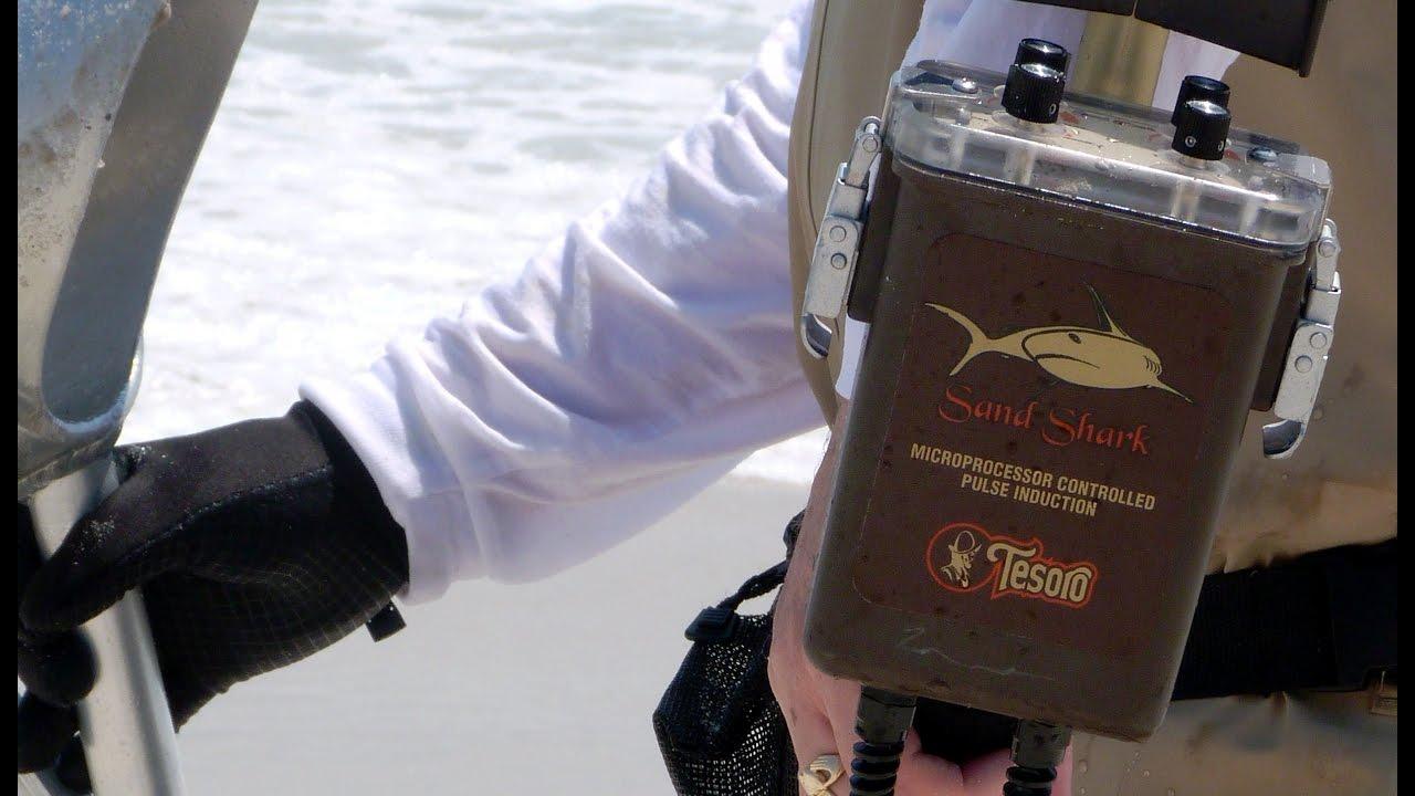 Beach Metal Detecting Tesoro Sand Shark Metal Detector
