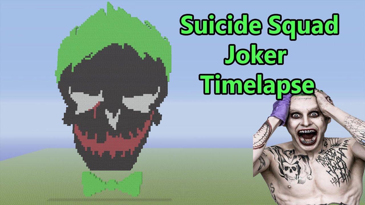 Minecraft Joker Pixel Art Timelapse (Suicide Squad)