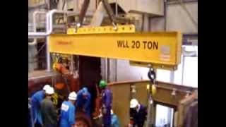 GE Turbine Rotor removal at LNG plant