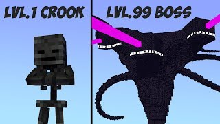 Monster School Lv.1 Crook Vs Lv.99 Boss 4- Minecraft Animation