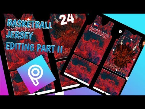 How To Edit A Basketball Jersey Design On PicsArt Part II