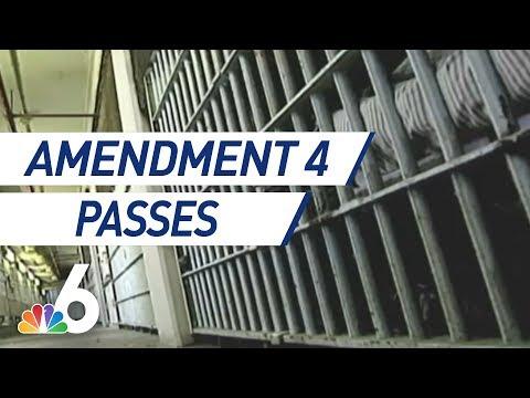 Amendment 4: Voting Rights Restored for Ex-Felons   NBC 6