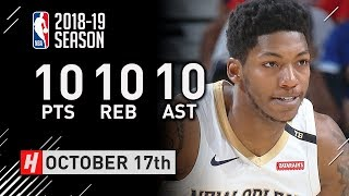 Elfrid Payton Official Pelicans Debut Full Highlights vs Rockets 2018.10.17 - 10 Pts, 10 Reb, 10 Ast