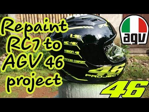 Repaint Kyt Rc7 Menjadi Agv 46 Project Youtube