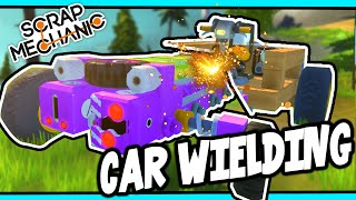 Scrap Mechanic! - CAR WIELDING CHALLENGE! Vs AshDubh - [#27]   Gameplay  