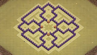 Clash Of Clans Town Hall 7 War Base With 3 Air Defenses   TH7 War Base CoC New Update 2016