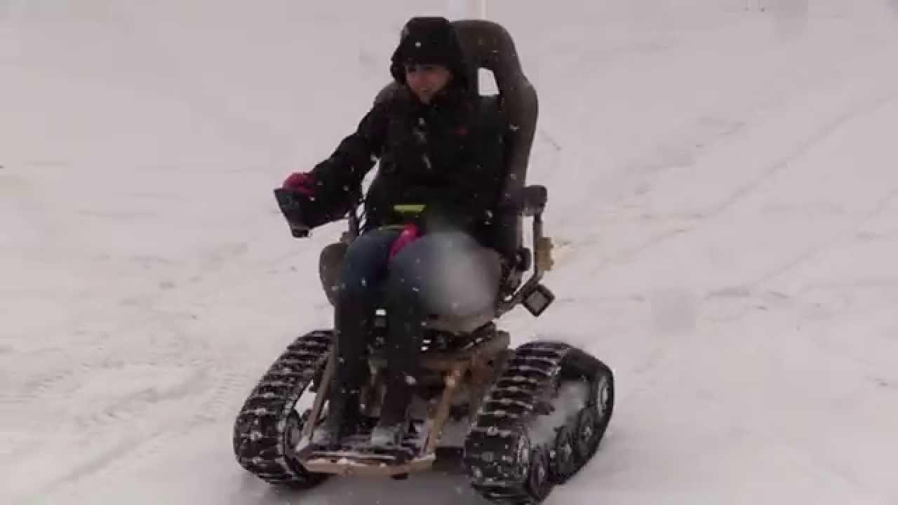 All Terrain Wheelchair >> Tracfab Through Snow - All Terrain Tracked Wheelchair ...