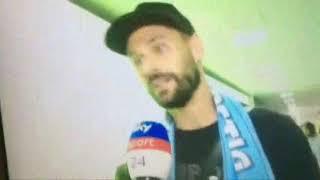 Fernando Llorente sbarca a Fiumicino per le visite mediche e firmare col Napoli