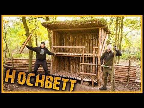 Bushcraft Camp [S05/E09] Hochbett im Wald gebaut ???? - Outdoor Bushcraft Lagerbau