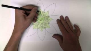 "Whispered Mandalas #2 - ""green"" - Drawing A Basic Mandala For Asmr, Relaxation And Sleep"