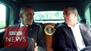 Obama goes for a spin with Jerry Seinfeld - BBC News