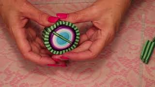 Making A Fantasy Leaf Cane with Polymer Clay , jewelry tutorial