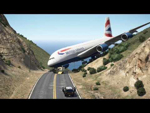 Gigantic Airbus 'a380' Thrilling Emergency Landing at Mount Meadows | GTA 5