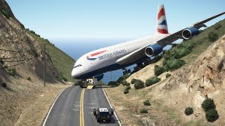 Gigantic Airbus 'a380' Thrilling Emergency Landing at Mount Meadows | GTA 5
