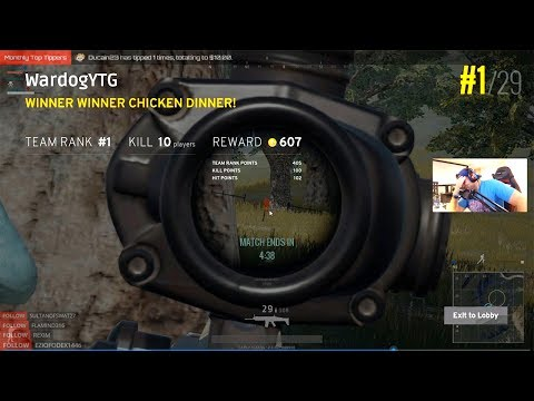 CRAZY PUBG WIN! $20 BET WITH GREENSKULL AND DUCAIN! [PlayerUnkown's Battlegrounds]
