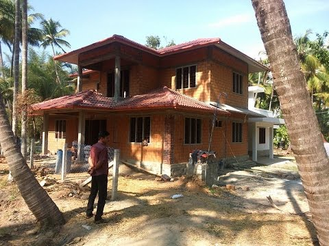 Low budget home ,building designers at Kandassan kadavu trissur-construction site