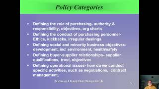 Ch 3 Purchasing Policy and Procedures