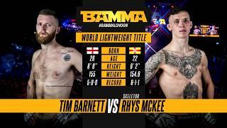 BAMMA 34: Tim Barnett vs Rhys McKee
