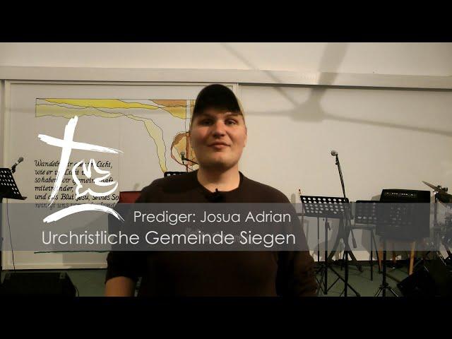 UGS - Predigt vom 15.03.2020 - Josua Adrian