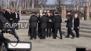 Poland: US Vice President Mike Pence pays respects to Auschwitz victims