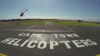 robben island helicopter flight cape town south africa