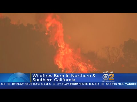 Wildfires Rage In Northern & Southern California