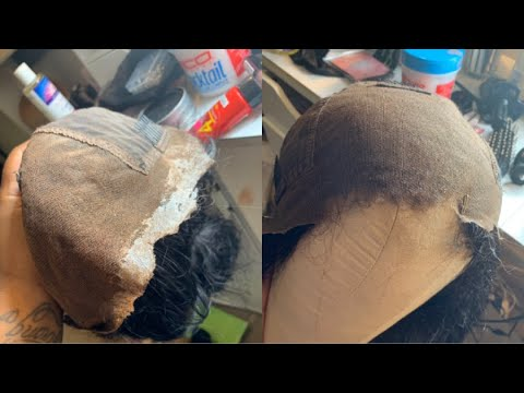 How to Remove Lace Glue From Your Frontal/Wig Without Washing it